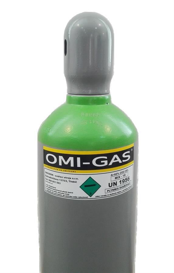 Tlaková láhev Argon mix 18 - 200 Bar 20l bez náplně